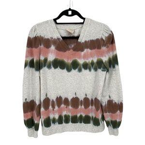 Knox Rose Tie Dye Long Sleeve Sweatshirt Fleece Inside Size Small